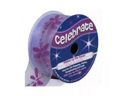 Bobine Celebrate ruban mousseline libellule violette