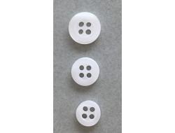 Bouton classique blanc 9, 10 et 12 mm