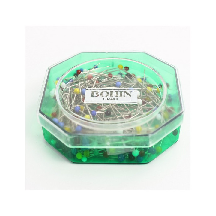 Épingles tête de verre Bohin
