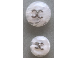 Bouton couture blanc 18 et 22 mm