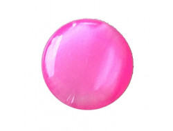 Bouton pastille rose fuschia 10 mm