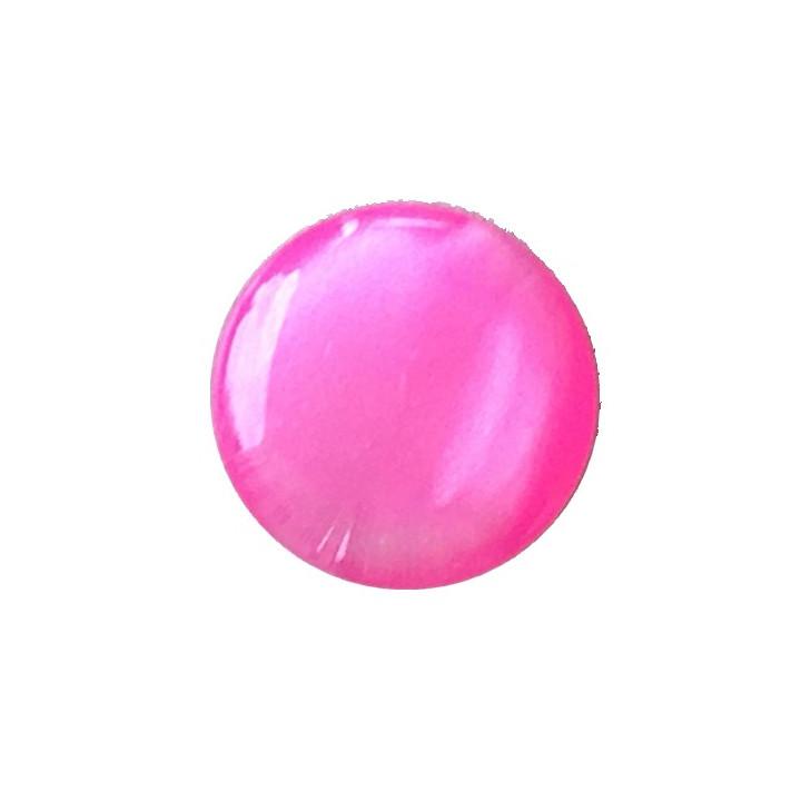 Bouton pastille rose fuschia 10 mm