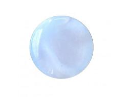 Bouton pastille bleu ciel 10 mm