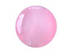 Bouton pastille rose 10 mm