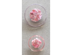 Bouton couture rose 18 et 25 mm