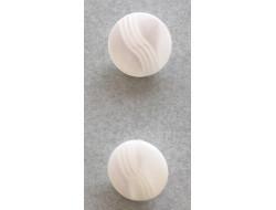 Bouton pastille ivoire 11 et  12 mm