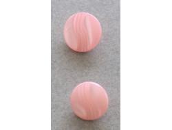Bouton pastille rose 11 et  12 mm