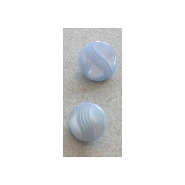 Bouton pastille bleu 11 et  12 mm