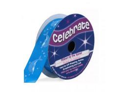 Bobine Celebrate ruban satin bleu dauphin