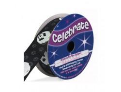 Bobine Celebrate ruban satin noir panda