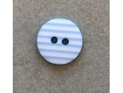 Bouton rayé bleu ciel 12 mm