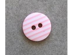 Bouton rayé rose 12 mm