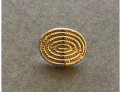 Bouton métal sur pied or 10 mm