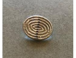 Bouton métal sur pied argent 10 mm