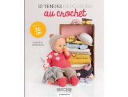 12 tenues de poupons au crochet Nathalie Perdoncin