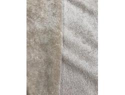 Tissu éponge microfibre de bambou taupe