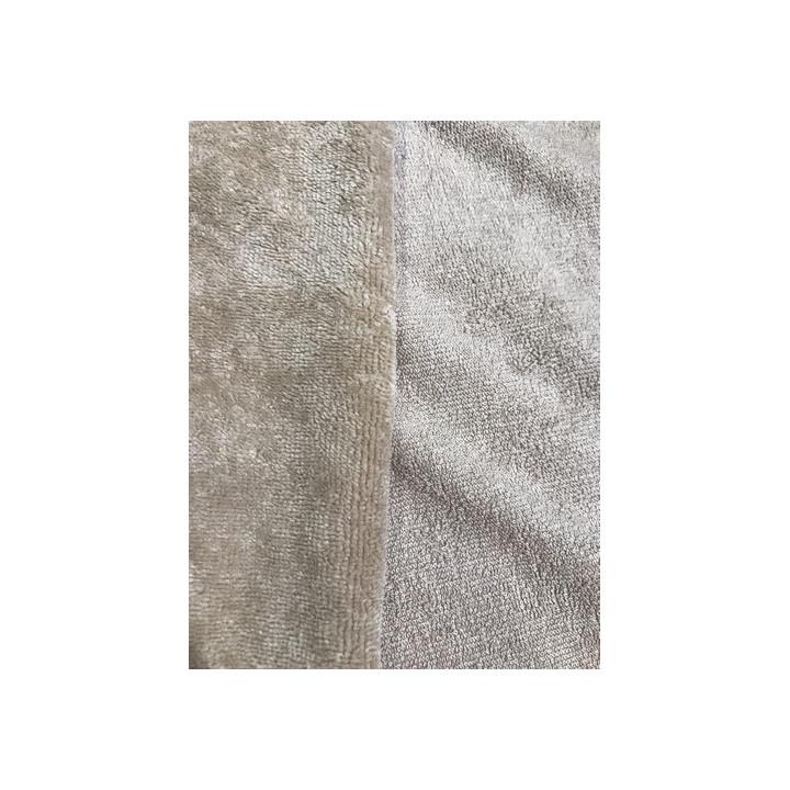 Tissu éponge microfibre de bambou beige
