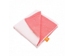 Couverture Nid d'abeille Rose pale