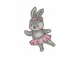 Écusson thermocollant - Lapin danseuse