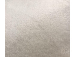 Tissu doudou écru