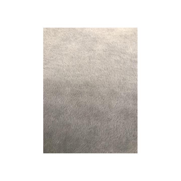 Tissu fourrure gris