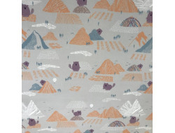 Tissu Soft Shell Beaver and mountains- Katia Fabrics