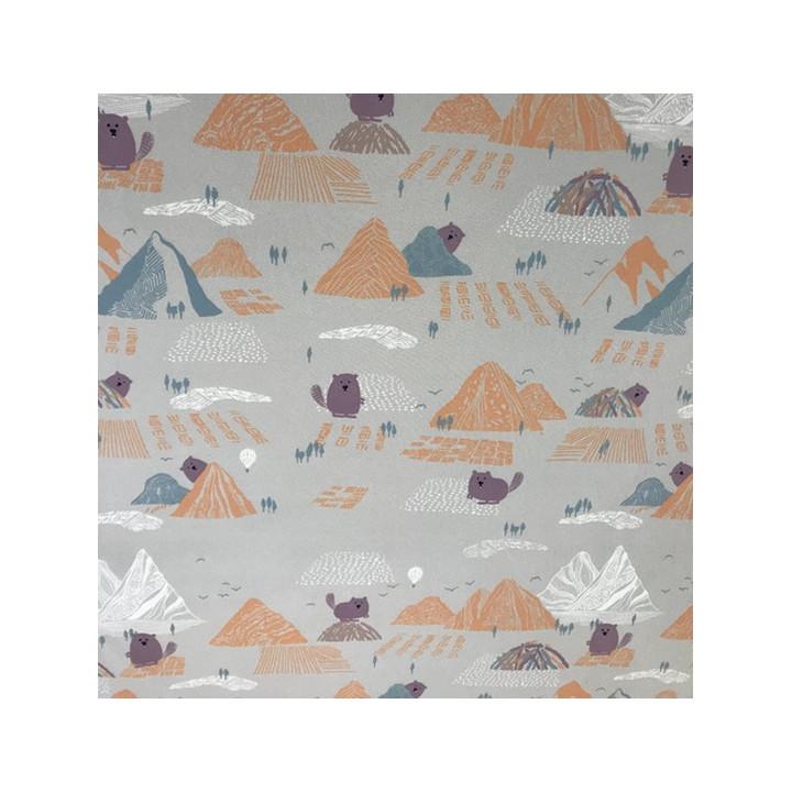 Tissu Soft Shell Beaver and mountains- Katia Fabrics