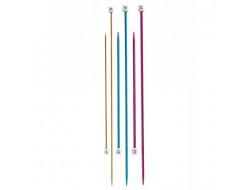 Aiguilles à tricoter du 2 au 5.5 mm colorées 30 cm- Bergère de France
