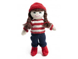 Kit à tricoter poupée Lina - Écolière