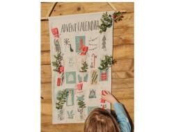 Panneau Tissu canvas Xmas calendrier de l'avent, Katia fabrics