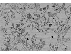 Tissu sweat Mélange squirrel coord Katia Fabrics