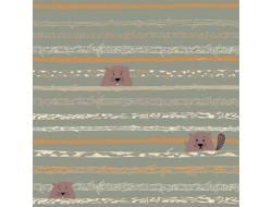 Tissu popeline de coton Beaver Tooth & Trees - Katia Fabrics