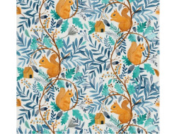 Tissu popeline de coton Squirrel World - Katia Fabrics
