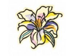 Écusson thermocollant fleur