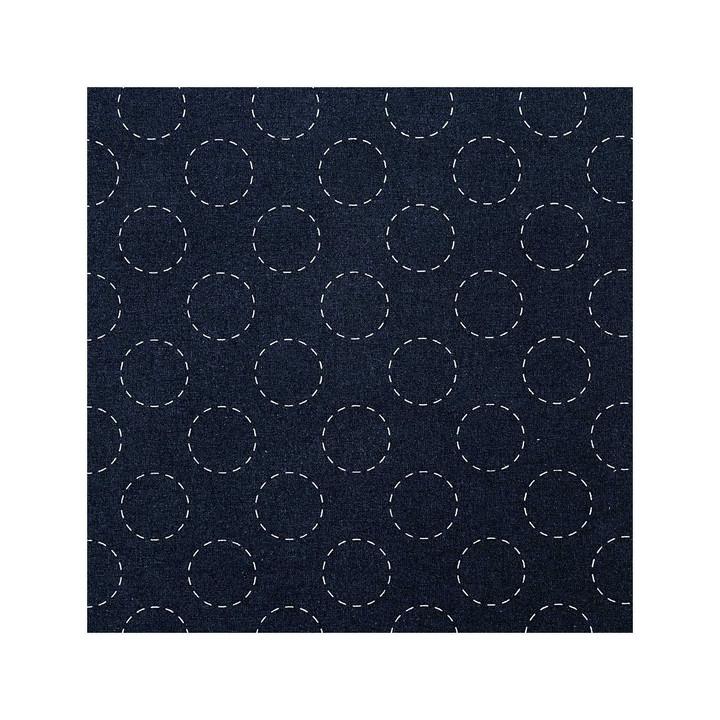 Tissu broderie sashiko bleu marine