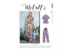 Robe de chambre, ceinture, hauts, short et pantalon femme - Mc Call's M8056