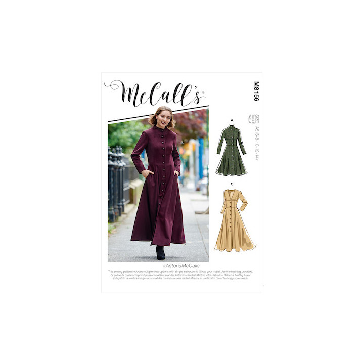 Manteau femme - Mc Call's M8156