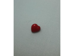 Bouton coeur rouge 1 cm
