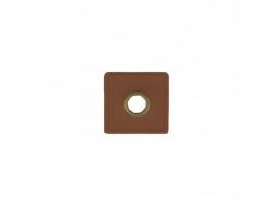 Oeillet simili carré, marron