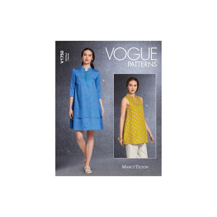 Patron Tunique et Robe femme - Vogue 1750