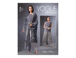 Patron kimono haut et pantalon femme - Vogue 1746