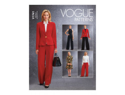 Patron Veste , haut, robe , pantalon, combinaison femme - Vogue 1741