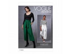 Patron Pantalon et ceinture femme - Vogue 1662