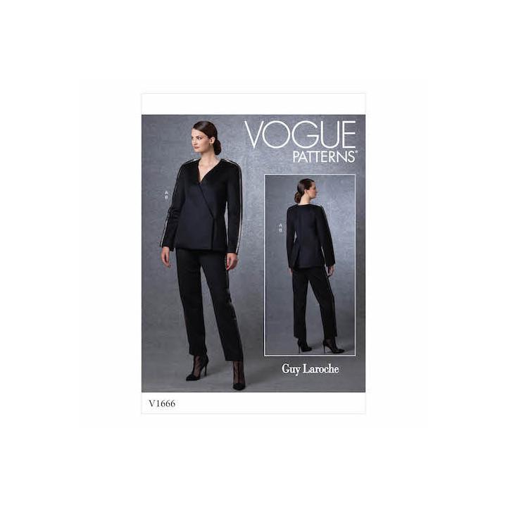 Patron Veste et pantalon femme - Vogue 1666