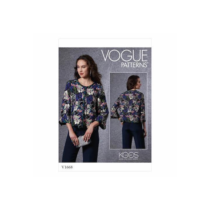 Patron Veste  femme - Vogue 1668