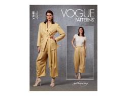 Patron Veste, ceinture et Pantalon femme - Vogue 1688