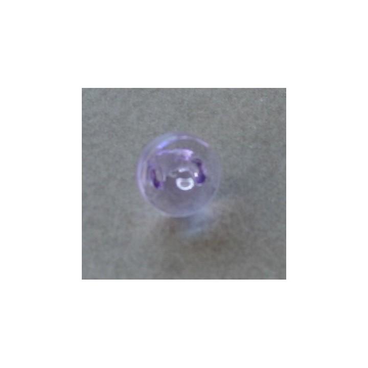 Bouton transparent parme