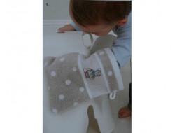 Gant de toilette Beige à pois blanc RICO