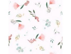 Tissu popeline Flying kangaroos Katia Fabrics