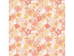 Tissu popeline Jumbo flowers Katia Fabrics